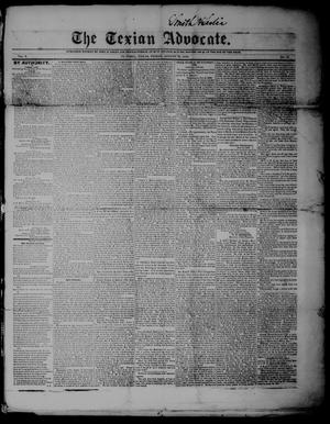 The Texian Advocate. (Victoria, Tex.), Vol. 5, No. 15, Ed. 1 Friday, August 16, 1850