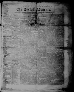 Primary view of The Texian Advocate. (Victoria, Tex.), Vol. 6, No. 32, Ed. 1 Saturday, December 13, 1851