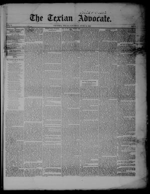 Primary view of The Texian Advocate. (Victoria, Tex.), Vol. 8, No. 7, Ed. 1 Saturday, June 18, 1853