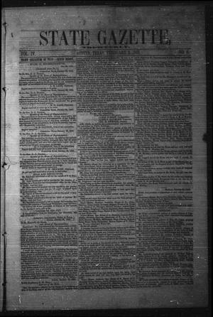 Primary view of object titled 'State Gazette, Tri-Weekly. (Austin, Tex.), Vol. 4, No. 8, Ed. 1 Thursday, February 3, 1853'.