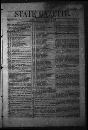 Primary view of object titled 'State Gazette, Tri-Weekly. (Austin, Tex.), Vol. 4, No. 11, Ed. 1 Tuesday, February 15, 1853'.