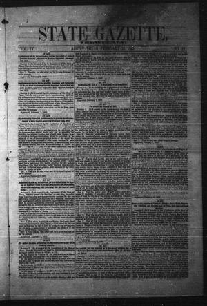 Primary view of object titled 'State Gazette, Tri-Weekly. (Austin, Tex.), Vol. 4, No. 12, Ed. 1 Wednesday, February 16, 1853'.
