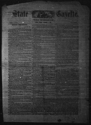 Primary view of object titled 'State Gazette. Tri-Weekly. (Austin, Tex.), Ed. 1 Monday, December 3, 1855'.