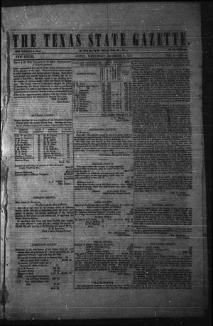 Primary view of object titled 'The Texas State Gazette. Tri-Weekly. (Austin, Tex.), Vol. 1, No. 14, Ed. 1 Wednesday, December 9, 1857'.