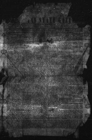 Primary view of object titled 'The Texas State Gazette. Tri-Weekly. (Austin, Tex.), Vol. 1, Ed. 1 Friday, January 15, 1858'.
