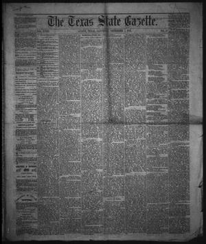 Primary view of object titled 'The Texas State Gazette. (Austin, Tex.), Vol. 18, No. 51, Ed. 1 Saturday, September 7, 1867'.