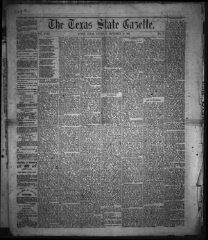 Primary view of object titled 'The Texas State Gazette. (Austin, Tex.), Vol. 18, No. 52, Ed. 1 Saturday, September 14, 1867'.
