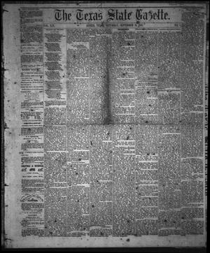 Primary view of object titled 'The Texas State Gazette. (Austin, Tex.), Vol. 19, No. 1, Ed. 1 Saturday, September 21, 1867'.