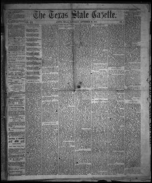 Primary view of object titled 'The Texas State Gazette. (Austin, Tex.), Vol. 19, No. 2, Ed. 1 Saturday, September 28, 1867'.