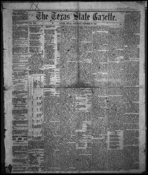 The Texas State Gazette. (Austin, Tex.), Vol. 19, No. 5, Ed. 1 Saturday, October 19, 1867