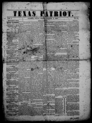 Primary view of Texas Patriot. (Gilmer, Tex.), Vol. 1, No. 25, Ed. 1 Friday, August 2, 1861