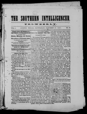 The Southern Intelligencer. Tri-Weekly. (Austin, Tex.), Vol. 1, No. 56, Ed. 1 Saturday, October 3, 1857