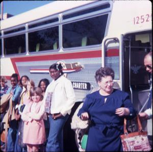 [Children's Group Begins Bus Trip, Marshall]