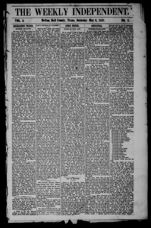 Primary view of object titled 'The Weekly Independent. (Belton, Tex.), Vol. 2, No. 1, Ed. 1 Saturday, May 2, 1857'.