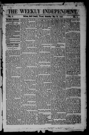 Primary view of object titled 'The Weekly Independent. (Belton, Tex.), Vol. 2, No. 3, Ed. 1 Saturday, May 16, 1857'.