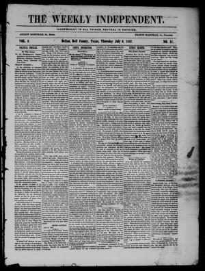 The Weekly Independent. (Belton, Tex.), Vol. 2, No. 11, Ed. 1 Thursday, July 9, 1857