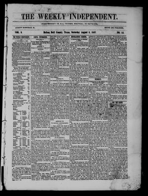 Primary view of object titled 'The Weekly Independent. (Belton, Tex.), Vol. 2, No. 15, Ed. 1 Saturday, August 8, 1857'.