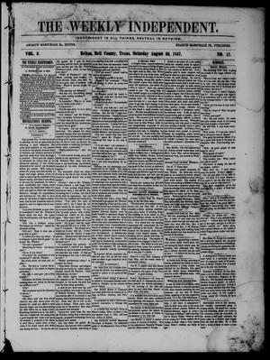 The Weekly Independent. (Belton, Tex.), Vol. 2, No. 17, Ed. 1 Saturday, August 22, 1857