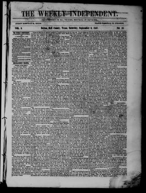 The Weekly Independent. (Belton, Tex.), Vol. 2, No. 19, Ed. 1 Saturday, September 5, 1857