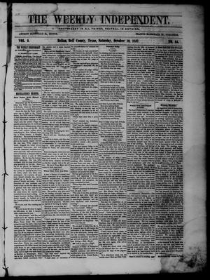Primary view of object titled 'The Weekly Independent. (Belton, Tex.), Vol. 2, No. 24, Ed. 1 Saturday, October 10, 1857'.