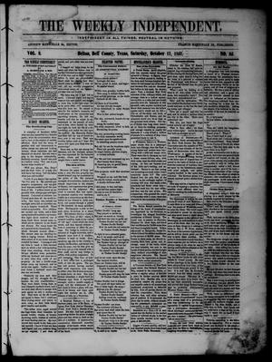 The Weekly Independent. (Belton, Tex.), Vol. 2, No. 25, Ed. 1 Saturday, October 17, 1857