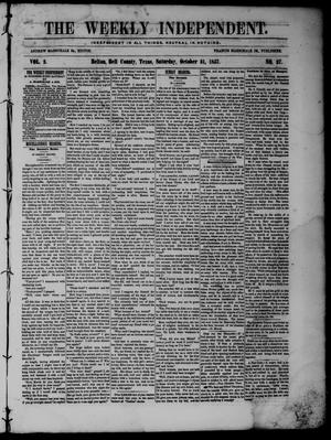 The Weekly Independent. (Belton, Tex.), Vol. 2, No. 27, Ed. 1 Saturday, October 31, 1857