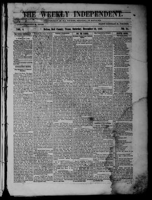 The Weekly Independent. (Belton, Tex.), Vol. 2, No. 34, Ed. 1 Saturday, December 19, 1857