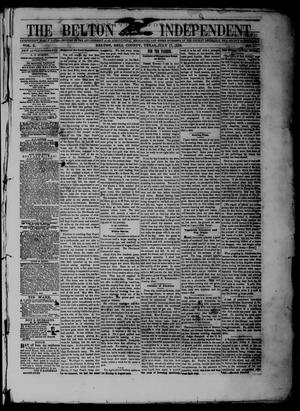 The Belton Independent. (Belton, Tex.), Vol. 3, No. 11, Ed. 1 Saturday, July 17, 1858