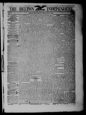 The Belton Independent. (Belton, Tex.), Vol. 3, No. 13, Ed. 1 Saturday, July 31, 1858