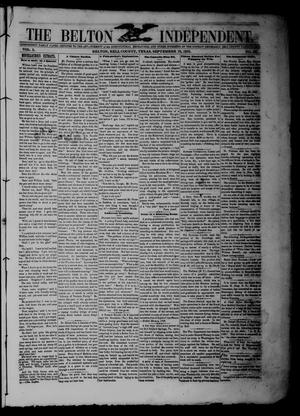 The Belton Independent. (Belton, Tex.), Vol. 3, No. 20, Ed. 1 Saturday, September 18, 1858