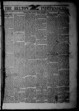 Primary view of The Belton Independent. (Belton, Tex.), Vol. 3, No. 22, Ed. 1 Saturday, October 2, 1858