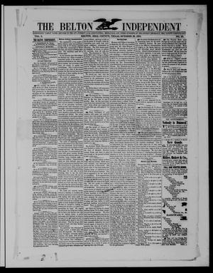 Primary view of object titled 'The Belton Independent. (Belton, Tex.), Vol. 3, No. 25, Ed. 1 Saturday, October 23, 1858'.