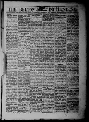 The Belton Independent. (Belton, Tex.), Vol. 3, No. 27, Ed. 1 Saturday, November 6, 1858