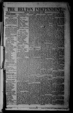 Primary view of object titled 'The Belton Independent. (Belton, Tex.), Vol. 3, No. 30, Ed. 1 Saturday, December 4, 1858'.