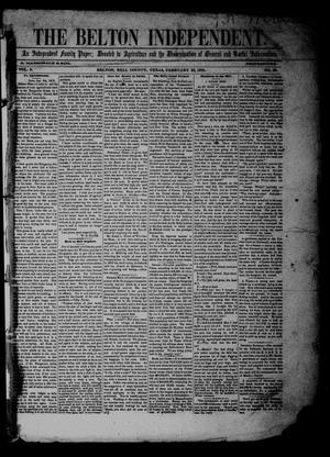The Belton Independent. (Belton, Tex.), Vol. 3, No. 33, Ed. 1 Saturday, February 26, 1859