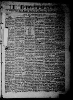 The Belton Independent. (Belton, Tex.), Vol. 3, No. 36, Ed. 1 Saturday, March 19, 1859