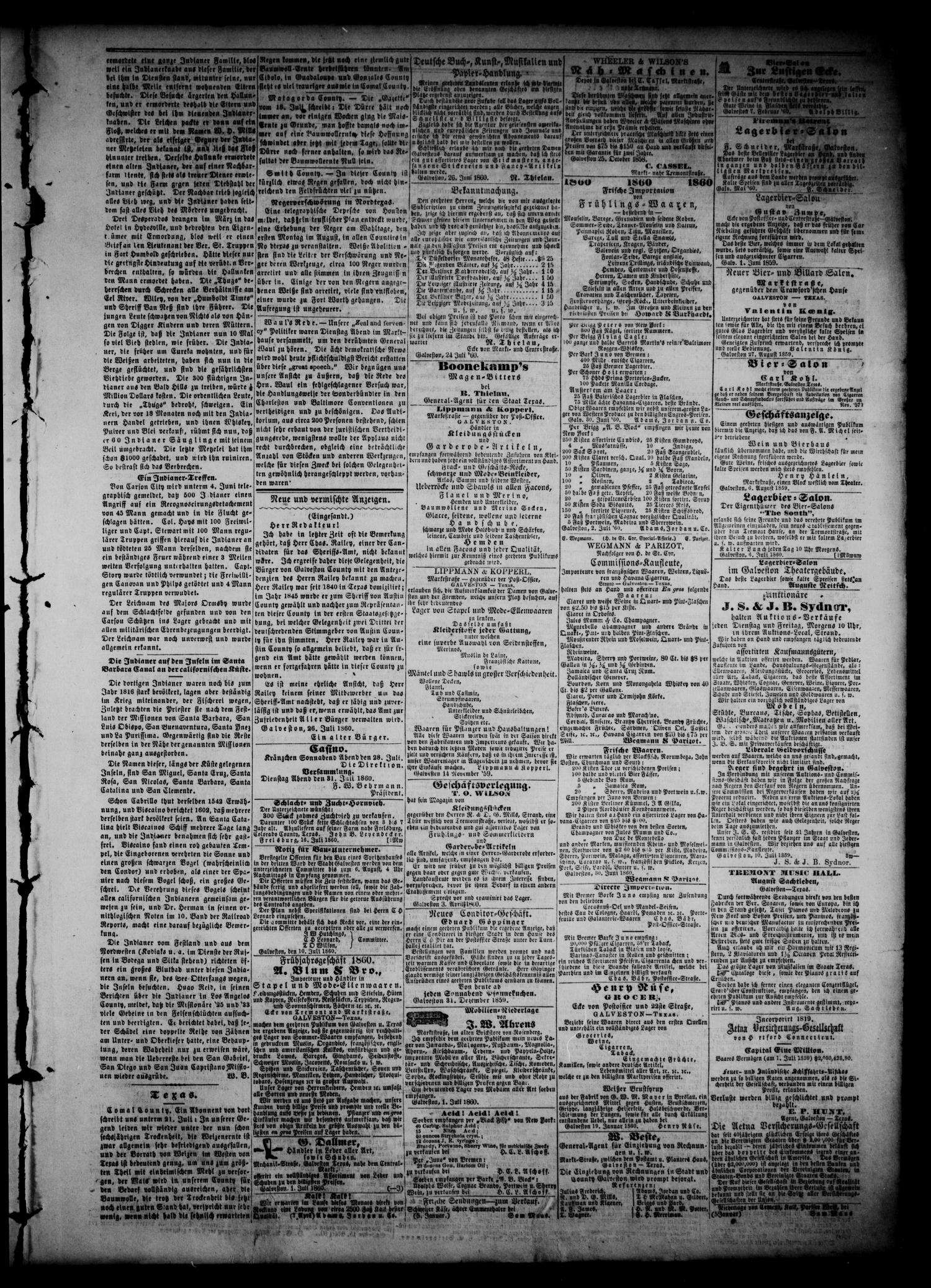 Union (Galveston, Tex.), Vol. 6, No. 5, Ed. 1 Thursday, July 26, 1860                                                                                                      [Sequence #]: 3 of 4