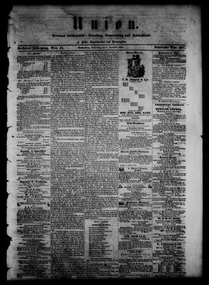 Union (Galveston, Tex.), Vol. 6, No. 51, Ed. 1 Thursday, November 8, 1860