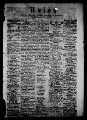 Union (Galveston, Tex.), Vol. 6, No. 60, Ed. 1 Thursday, November 29, 1860