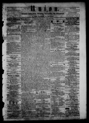 Primary view of object titled 'Union (Galveston, Tex.), Vol. 6, No. 64, Ed. 1 Saturday, December 8, 1860'.