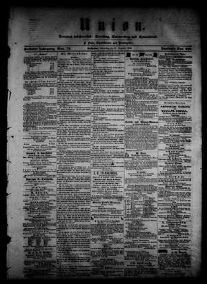 Primary view of Union (Galveston, Tex.), Vol. 6, No. 72, Ed. 1 Thursday, December 27, 1860