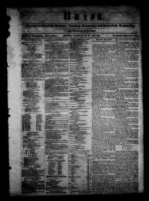 Primary view of object titled 'Union (Galveston, Tex.), Vol. 6, No. 145, Ed. 1 Saturday, June 22, 1861'.