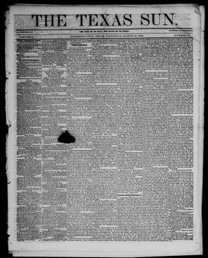 The Texas Sun. (Richmond, Tex.), Vol. 1, No. 12, Ed. 1 Saturday, March 31, 1855