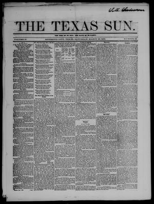 Primary view of object titled 'The Texas Sun. (Richmond, Tex.), Vol. 2, No. 12, Ed. 1 Saturday, March 29, 1856'.