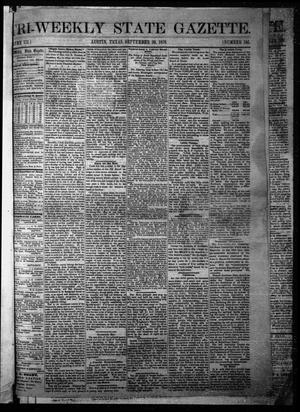 Primary view of object titled 'Tri-Weekly State Gazette. (Austin, Tex.), Vol. 3, No. 105, Ed. 1 Friday, September 30, 1870'.