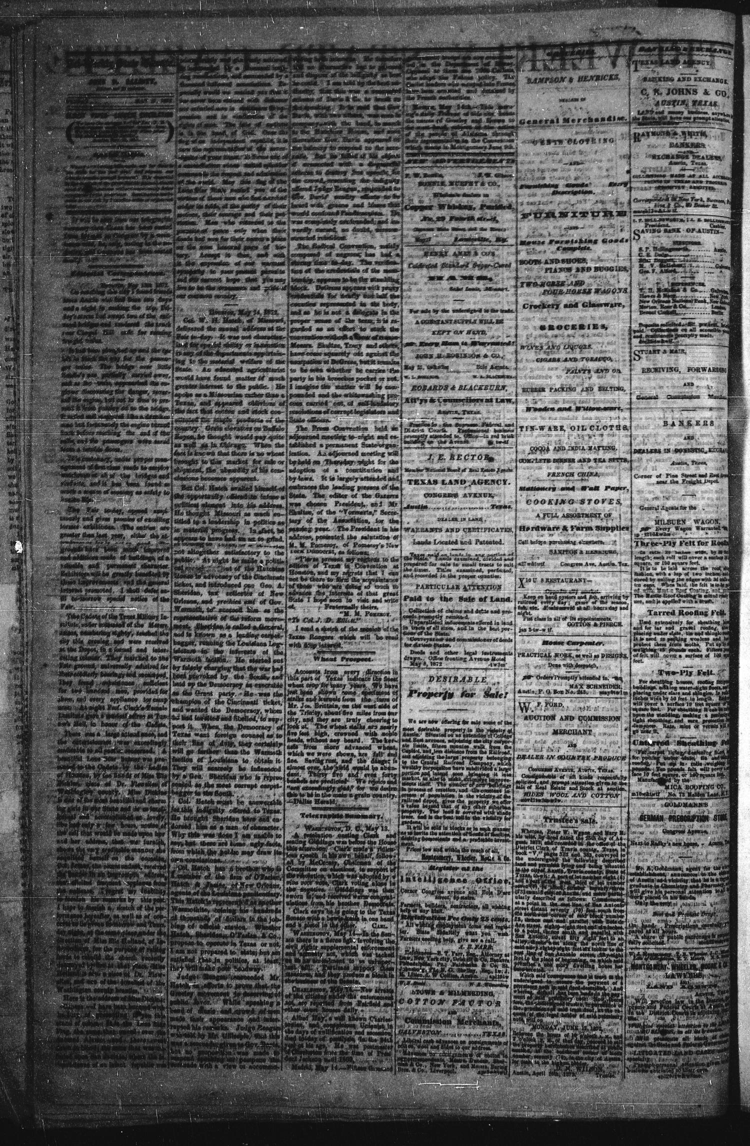 Tri-Weekly State Gazette. (Austin, Tex.), Vol. 5, No. 67, Ed. 1 Friday, May 17, 1872                                                                                                      [Sequence #]: 2 of 4