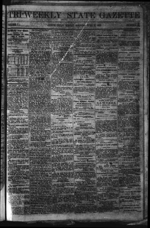 Primary view of object titled 'Tri-Weekly State Gazette. (Austin, Tex.), Vol. 5, No. 80, Ed. 1 Monday, June 17, 1872'.
