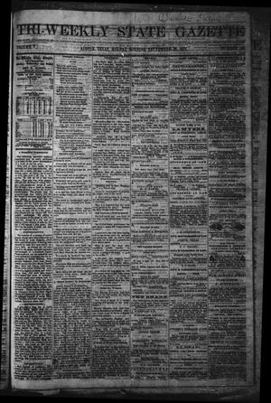 Primary view of object titled 'Tri-Weekly State Gazette. (Austin, Tex.), Vol. 5, No. 125, Ed. 1 Monday, September 30, 1872'.