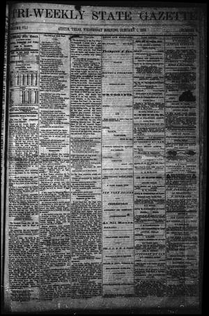 Primary view of object titled 'Tri-Weekly State Gazette (Austin, Tex.), Vol. 6, No. 9, Ed. 1 Wednesday, January 1, 1873'.