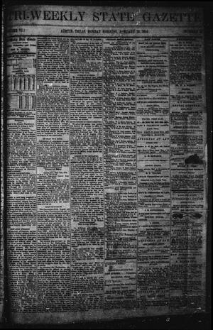Primary view of object titled 'Tri-Weekly State Gazette (Austin, Tex.), Vol. 6, No. 14, Ed. 1 Monday, January 13, 1873'.